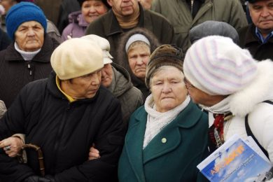 The procedure for identification of pensioner-IDPs entailed huge queues in Oschadbank