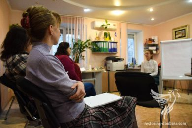 "Volunteers of ""Restoring Donbass"" held a seminar In Kiev for IDPs on finding a job"