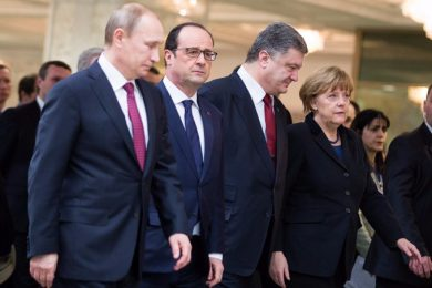 Leaders of Normandy format discussed the situation in Donbas