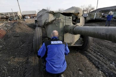 The OSCE special monitoring mission reported violations of the diversion of weapons by both parts of the conflict in Donbas